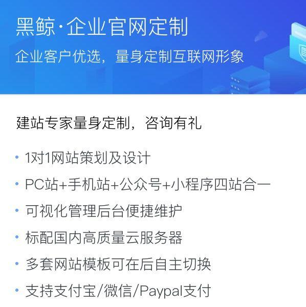 黑鲸·企业官网定制开发服务